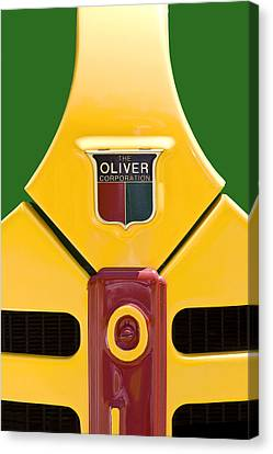 Antique Oliver Tractor Canvas Print by Tom Mc Nemar