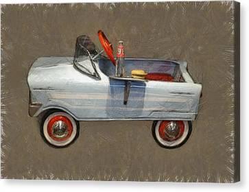 Antique Pedal Car Lv Canvas Print by Michelle Calkins