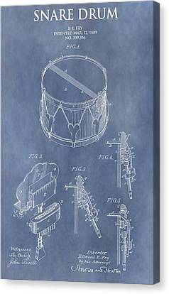Antique Snare Drum Patent Canvas Print by Dan Sproul