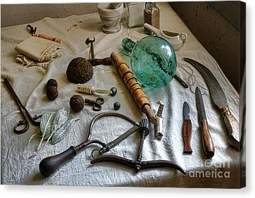Antique Surgery Tools Canvas Print by Olivier Le Queinec