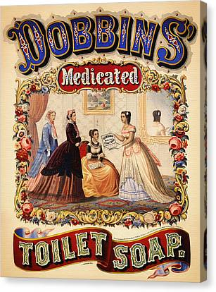 Antique Toilet Soap Ad - 1868 Canvas Print by Mountain Dreams