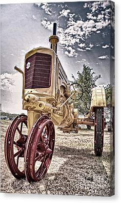 Antique Tractor Canvas Print by Tamyra Ayles