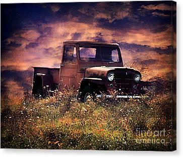 Antique Truck Canvas Print by Darren Fisher