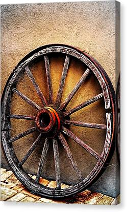 Wagon Wheel Canvas Print by Barbara Chichester