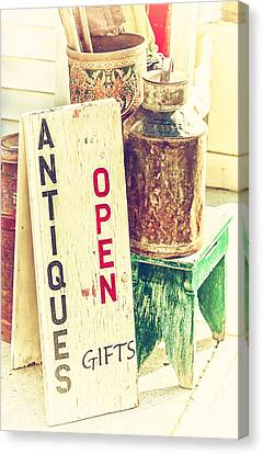 Antiques And Gifts Canvas Print by Karol Livote
