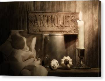 Antiques Still Life Canvas Print by Tom Mc Nemar