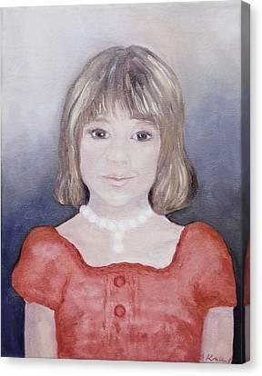 Antonia Portrait Canvas Print by Barbara Anna Knauf
