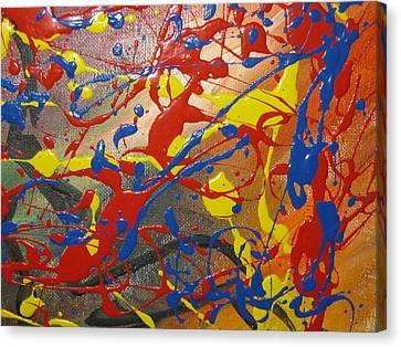 Anxious Canvas Print by Becky Van Pelt