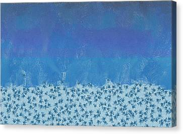 Anything But Blue Holiday Blues Canvas Print by Lorri Crossno