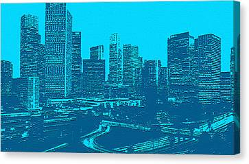 Anywhere Usa In Relief Canvas Print by Bob and Nadine Johnston
