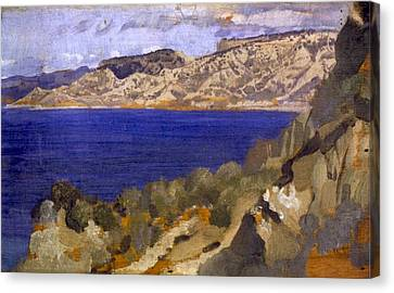 Anzac From Gaba Tepe Canvas Print by George Lambert