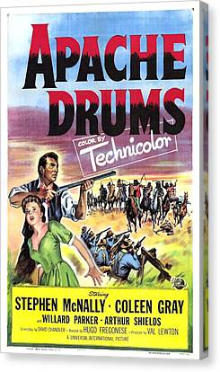 Apache Drums, Us Poster, Left From Top Canvas Print by Everett
