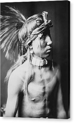 Apache Indian Circa 1905 Canvas Print by Aged Pixel