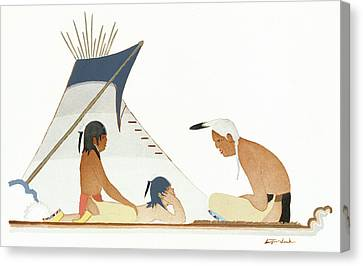 Apache Indians Canvas Print by Granger