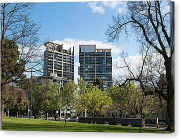 Apartment Buildings Along St. Kilda Canvas Print by Panoramic Images