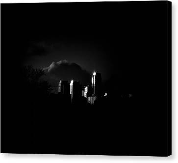 Apartment Buildings At Sunset From The Pape St Bridge Canvas Print by Brian Carson