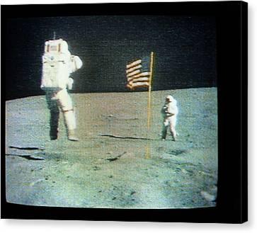 Apollo 16 Moon Walk Canvas Print by Nasa