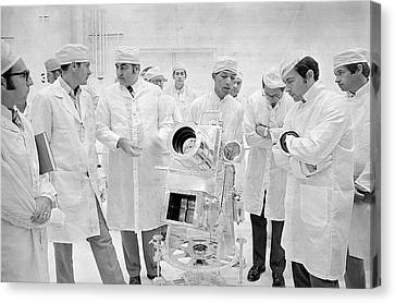 Apollo 16 Surface Experiments Review Canvas Print by Nasa