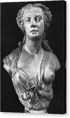 Apollonie Sabatier Canvas Print by Jean Baptiste Auguste Clesinger