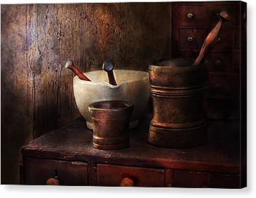 Apothecary - Pick A Pestle  Canvas Print by Mike Savad