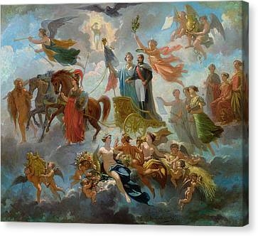 Apotheosis Of Napoleon IIi Canvas Print by Guillaume-Alphonse Harang Cabasson