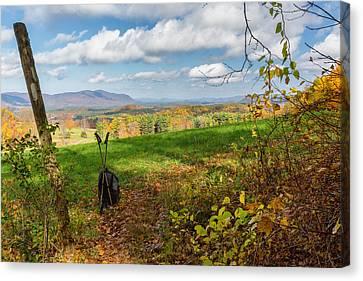 Appalachian Trail Hiker Canvas Print by Bill Wakeley