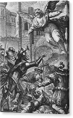 Apparition Of St Louis To Henri Iv Canvas Print by Joseph de Longueil
