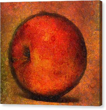Apple A Day-abstract Realism Canvas Print by Georgiana Romanovna