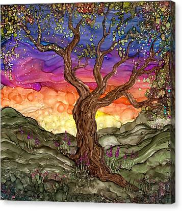 Apple Blossom Canvas Print by Ellen Starr