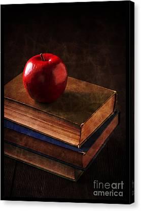Apple For Teacher Canvas Print by Edward Fielding