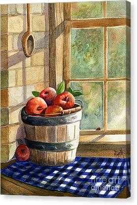Apple Harvest Canvas Print by Marilyn Smith