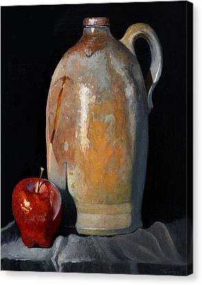 Apple Meets Crock Canvas Print by Catherine Twomey