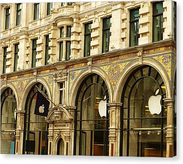 Apple On Regent Street Canvas Print by Connie Handscomb