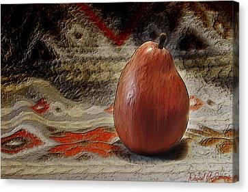 Apple Pear Canvas Print by David Simons