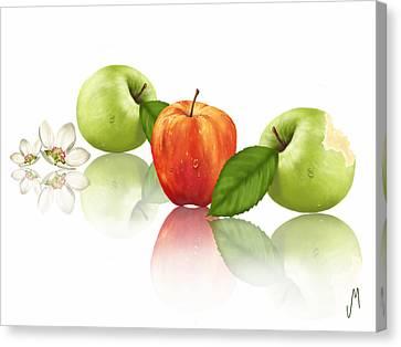 Apple Story Canvas Print by Veronica Minozzi