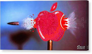 Apple Canvas Print by Tony Rubino