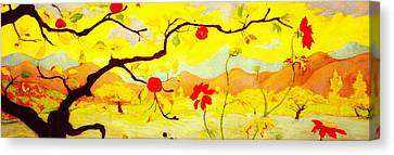 Apple Tree With Red Fruit Canvas Print by Celestial Images