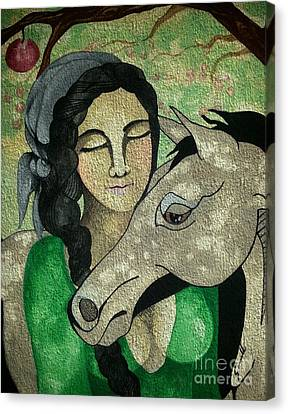 Apples And Horses Canvas Print by Amy Sorrell