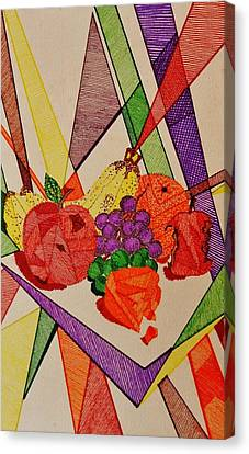 Apples And Oranges Canvas Print by Celeste Manning
