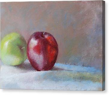 Apples Canvas Print by Nancy Stutes