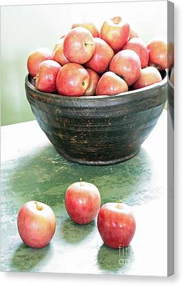 Apples On The Table  Canvas Print by Carol Groenen