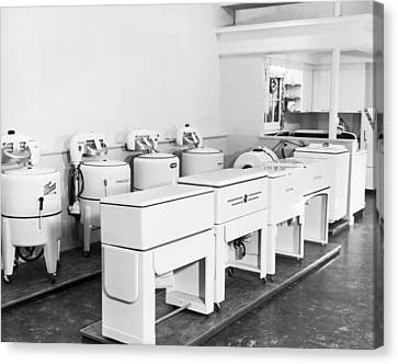 Appliance Store Display Canvas Print by Underwood Archives