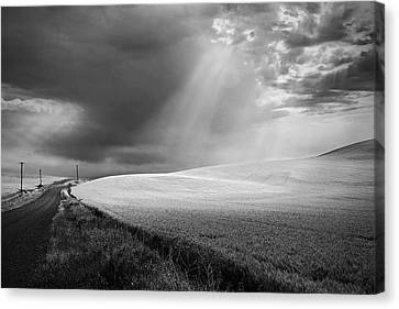 Approaching Storm Canvas Print by Latah Trail Foundation