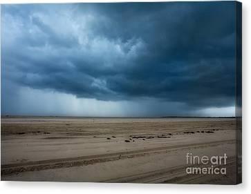Approaching Storm - Outer Banks Canvas Print by Dan Carmichael