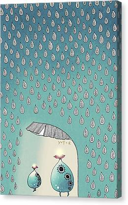 April Shower Canvas Print by Yoyo Zhao