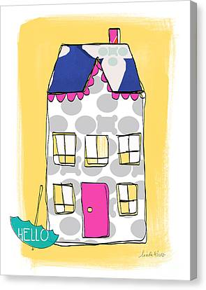 April Showers House Canvas Print by Linda Woods
