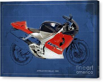 Aprilia Rsvc Mille 1999 Canvas Print by Pablo Franchi