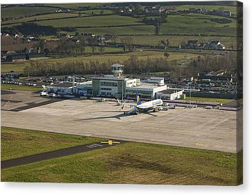 Apron At City Of Derry Airport Canvas Print by Colin Bailie