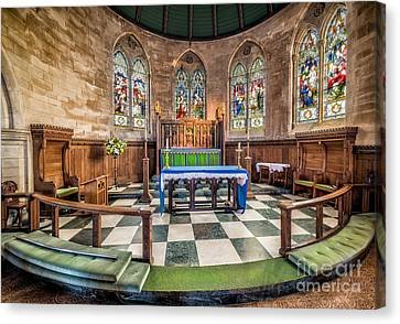 Apse Windows Canvas Print by Adrian Evans