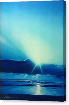 Ocean - ' Aqua Earth ' Canvas Print by Christian Chapman Art